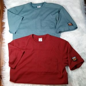 2 Timberland Mens MD S/S 1 Pocket Thermal Shirts